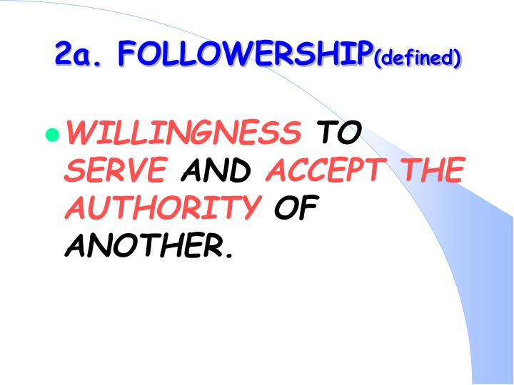 2a. FOLLOWERSHIP