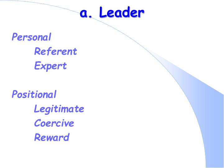 a. Leader