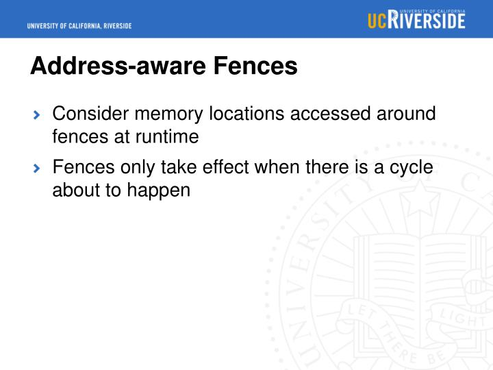 Address-aware Fences