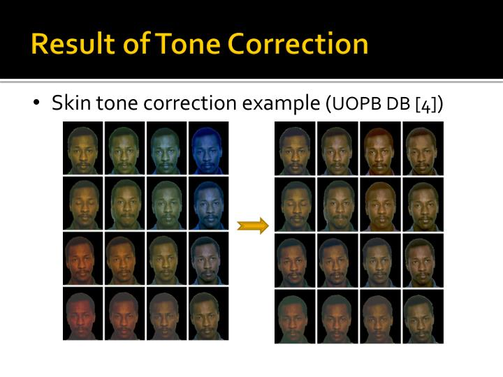 Result of Tone Correction