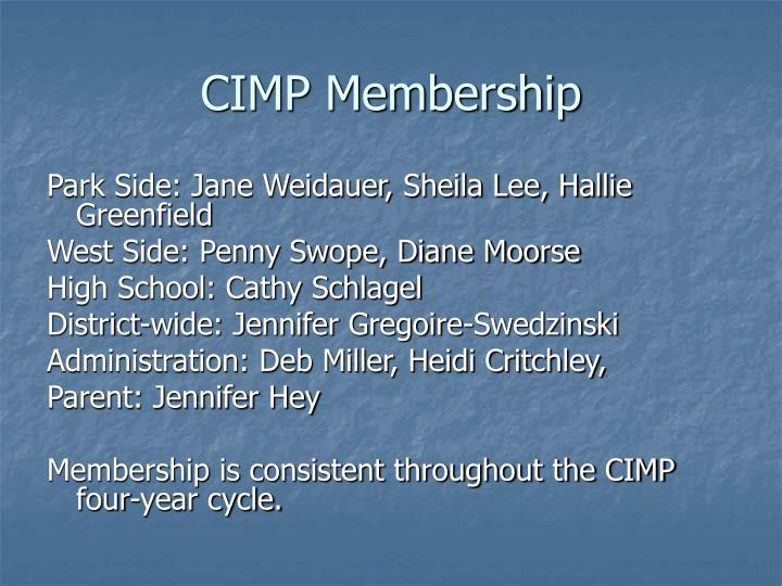 CIMP Membership