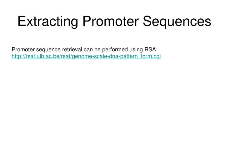 Extracting Promoter Sequences