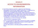 article 4 access to environmental information