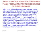 article 7 public participation concerning plans programmes and policies relating to the environment