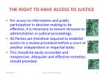 the right to have access to justice