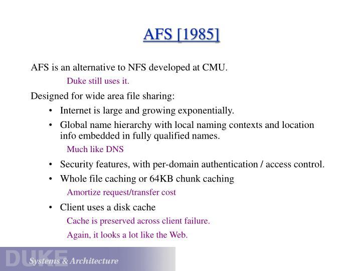 AFS [1985]