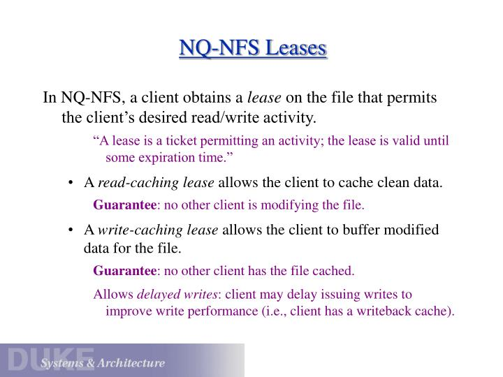 NQ-NFS Leases