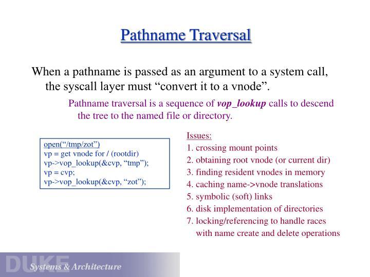 Pathname Traversal