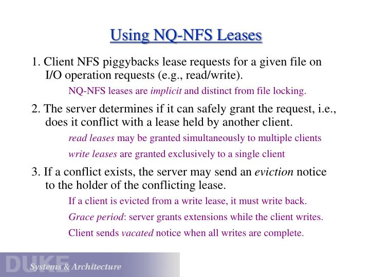 Using NQ-NFS Leases
