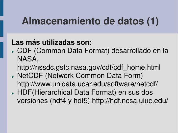 Almacenamiento de datos (1)