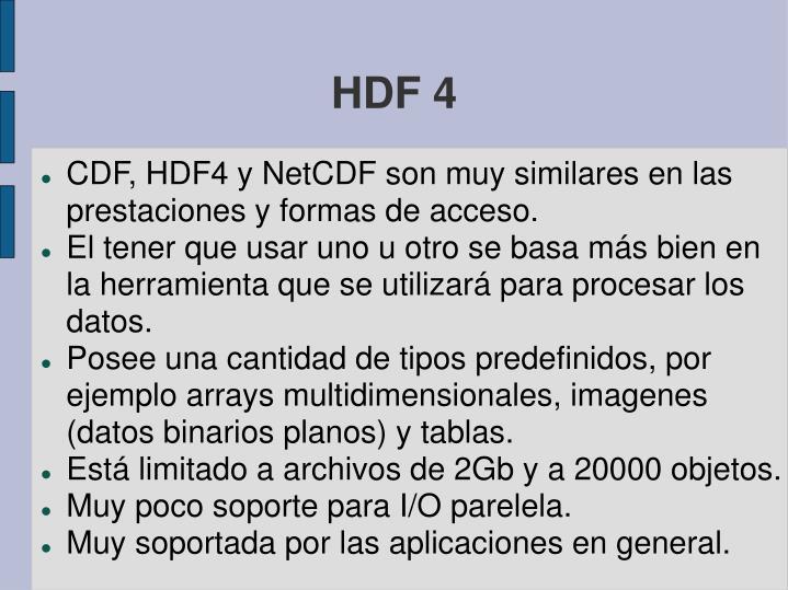 HDF 4