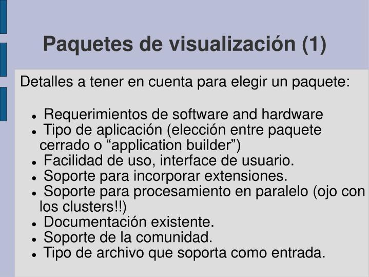 Paquetes de visualización (1)