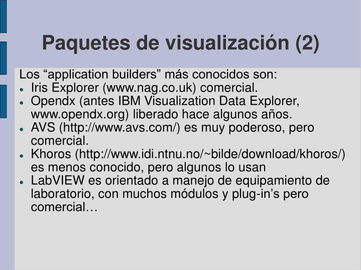 Paquetes de visualización (2)