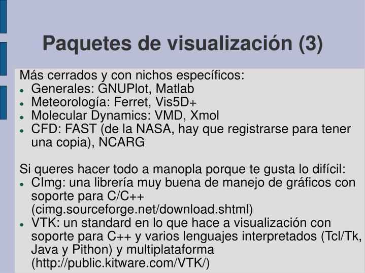 Paquetes de visualización (3)