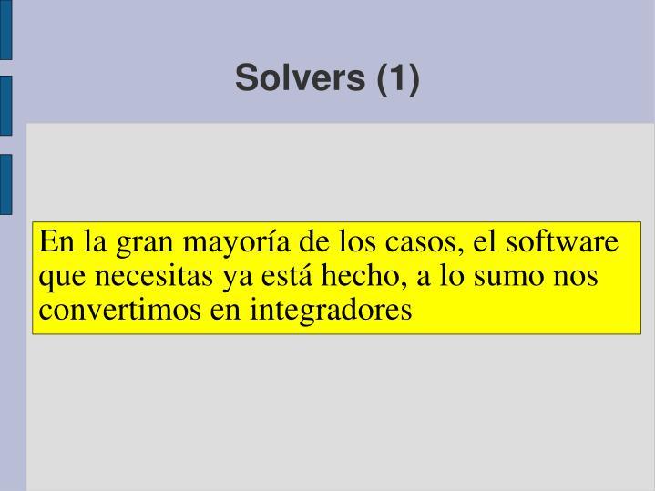 Solvers (1)