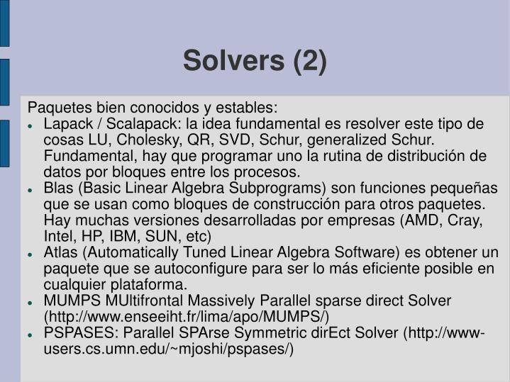 Solvers (2)