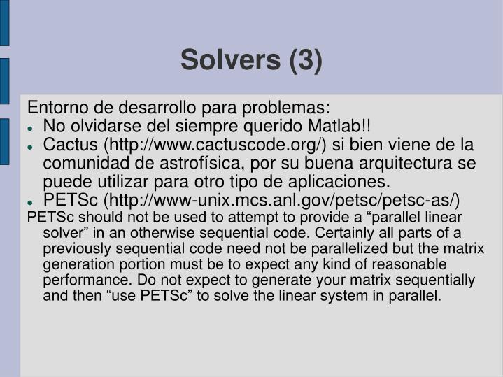 Solvers (3)