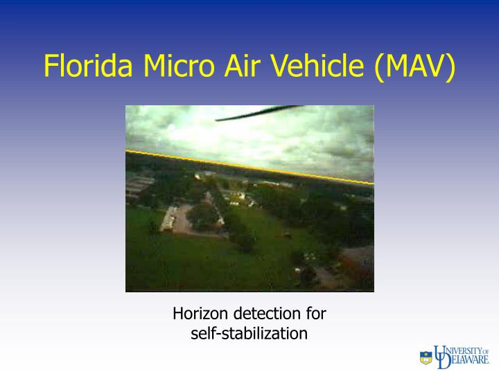 Florida Micro Air Vehicle (MAV)
