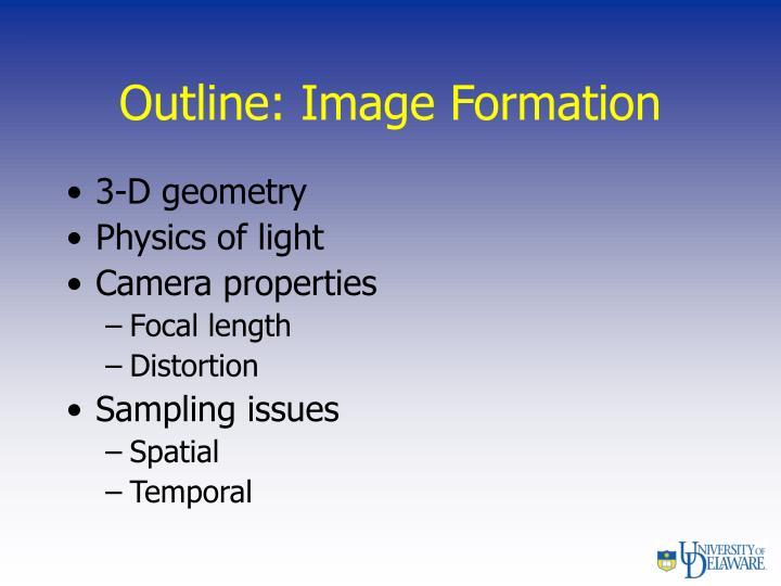 Outline: Image Formation