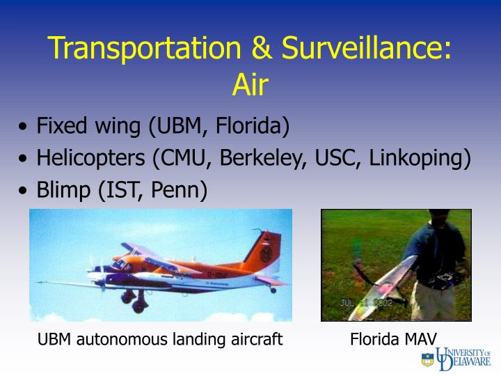 Transportation & Surveillance: Air
