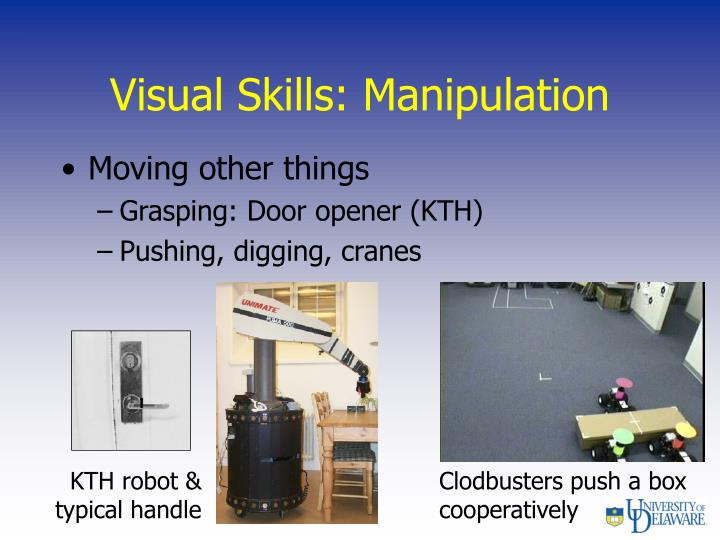 Visual Skills: Manipulation