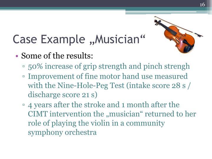 """Case Example """"Musician"""""""