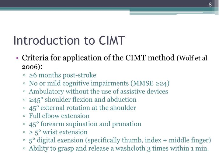 Introduction to CIMT