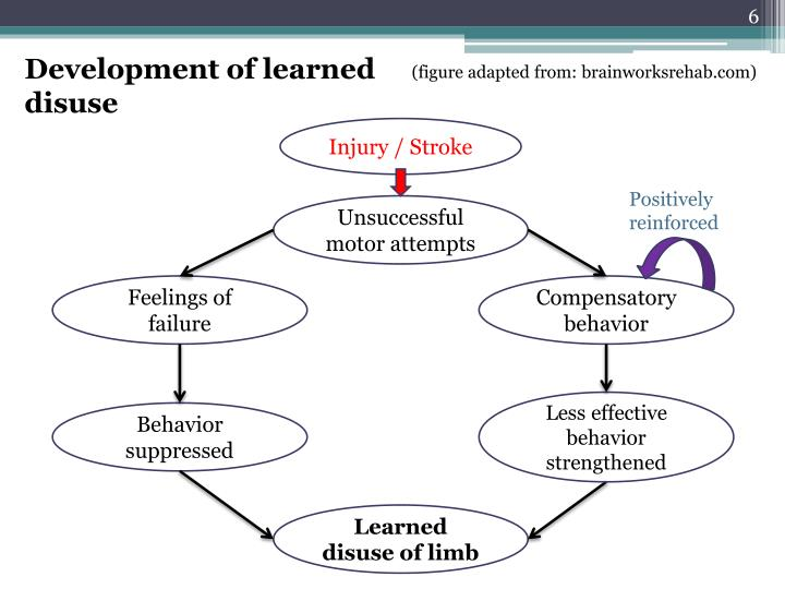 Development of learned disuse
