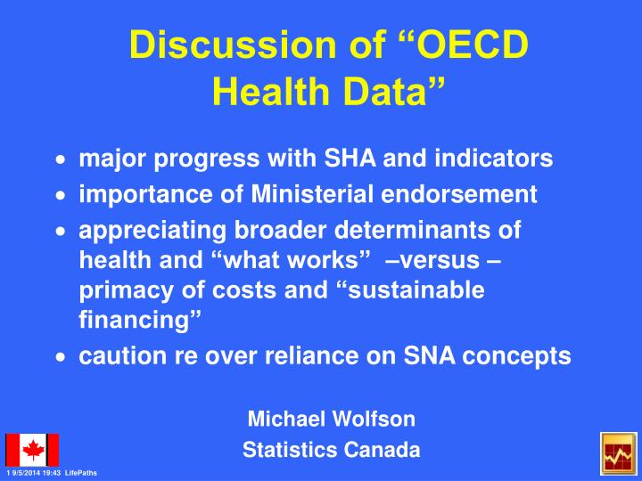 Discussion of oecd health data