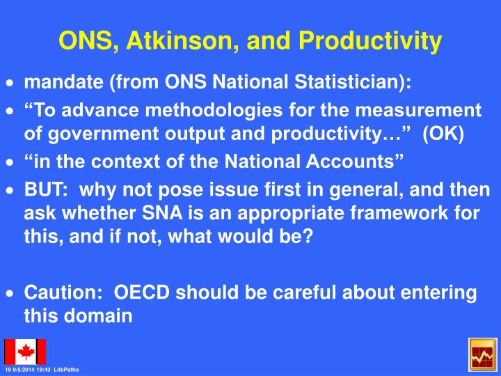 ONS, Atkinson, and Productivity