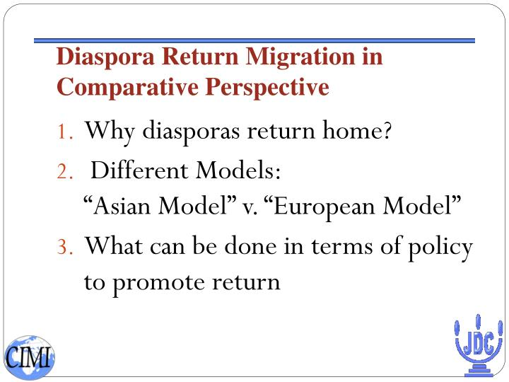 Diaspora Return Migration in Comparative Perspective