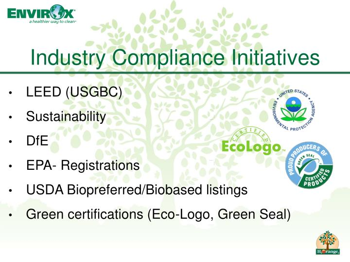 Industry Compliance Initiatives