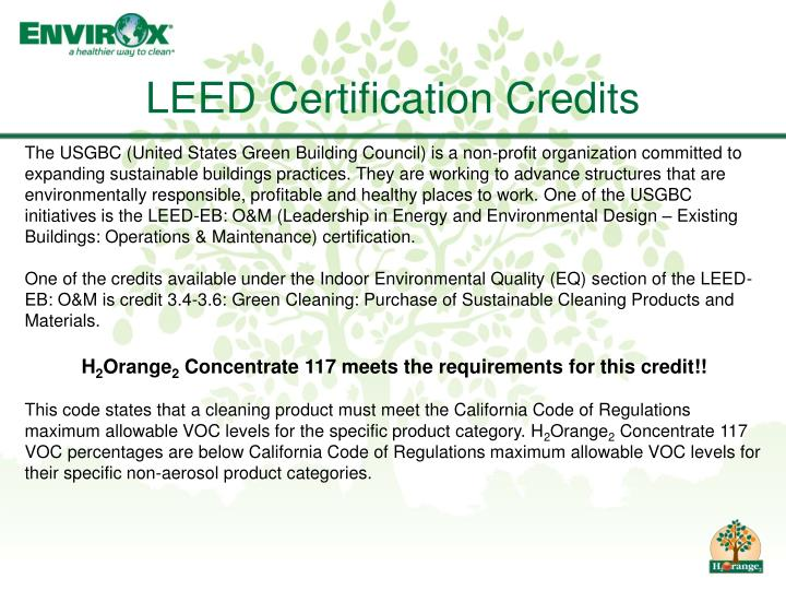 LEED Certification Credits