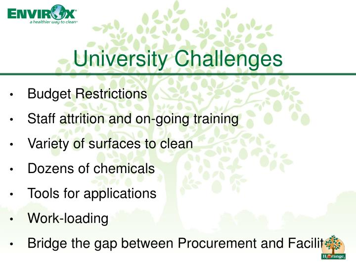 University Challenges