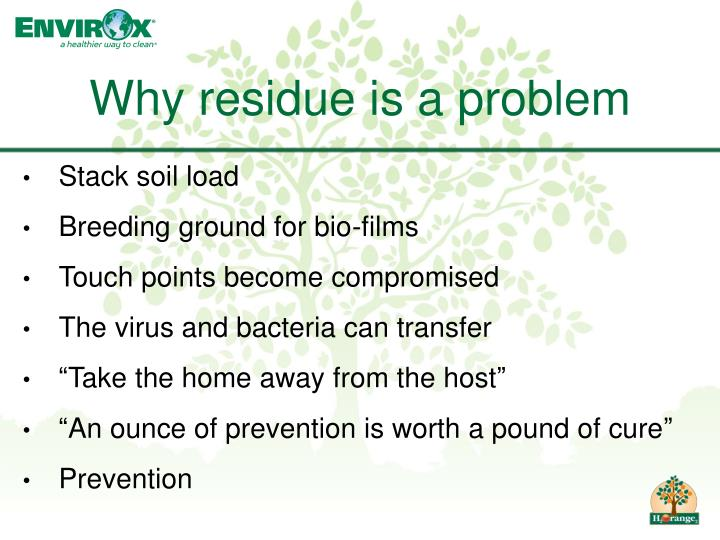 Why residue is a problem