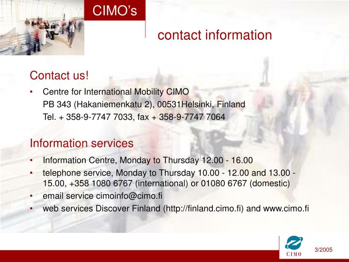 Centre for International Mobility CIMO