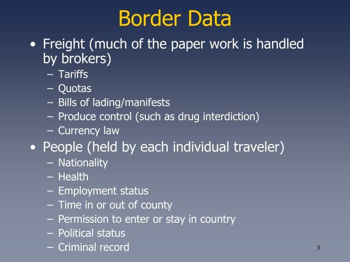 Border Data