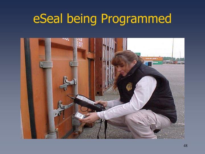 eSeal being Programmed