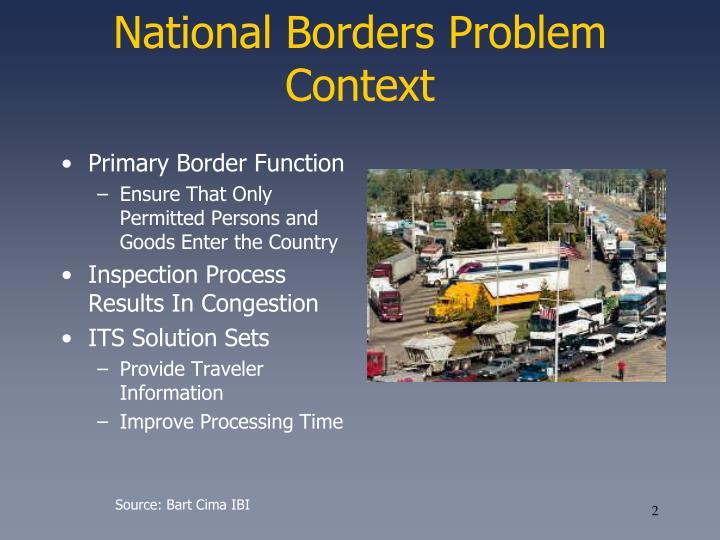 National Borders Problem Context