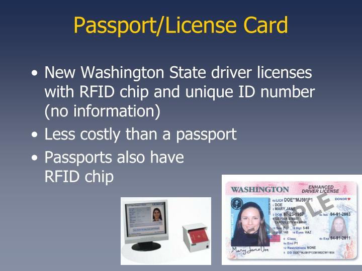Passport/License Card