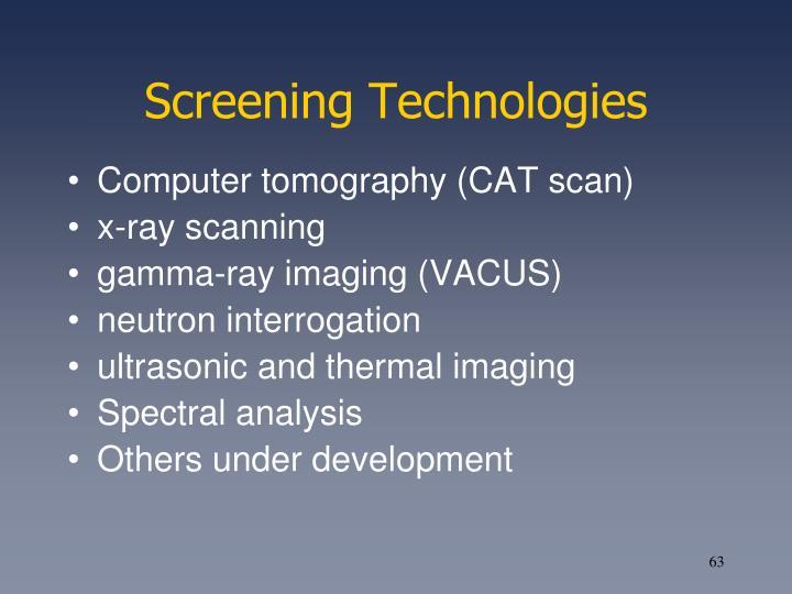 Screening Technologies