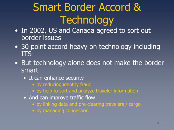 Smart Border Accord & Technology