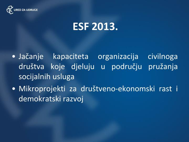 ESF 2013.