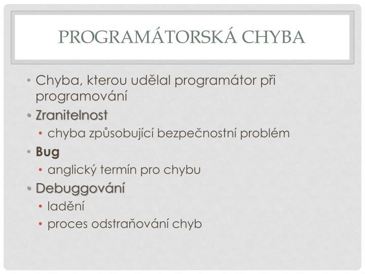 Programátorská chyba