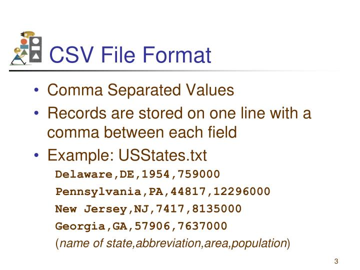 CSV File Format