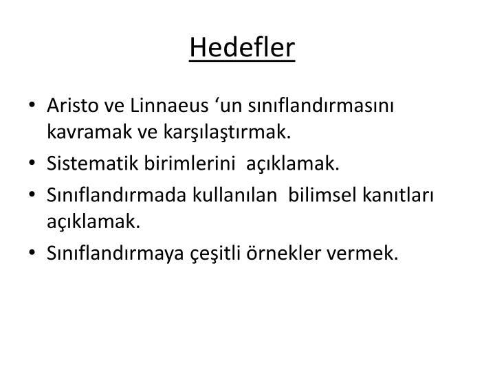 Hedefler