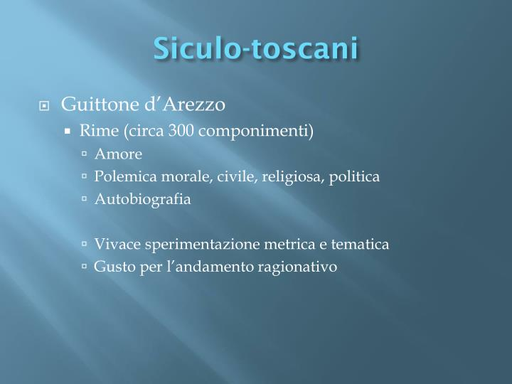 Siculo-toscani