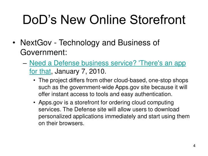 DoD's New Online Storefront