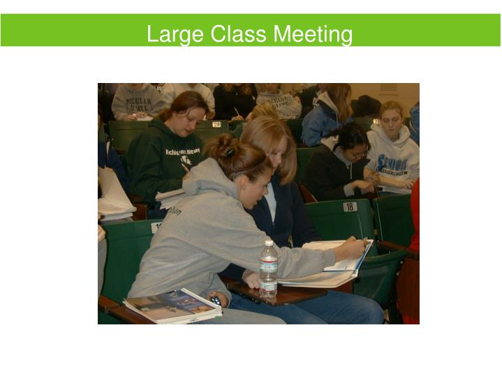 Large Class Meeting