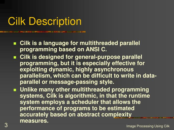 Cilk Description